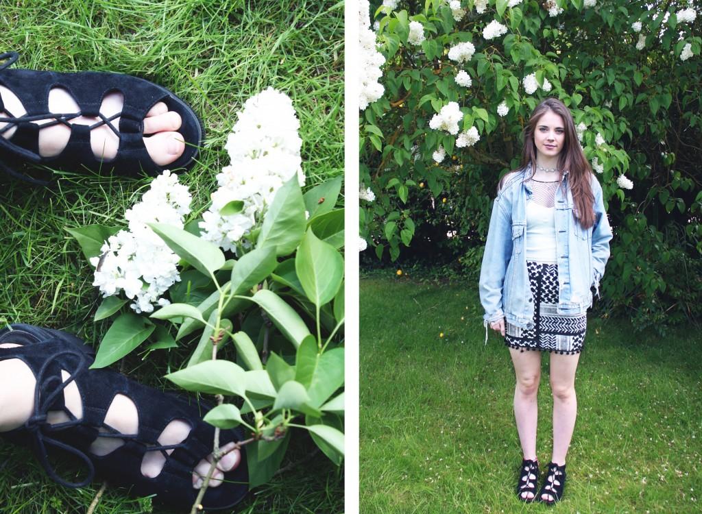 Denim Jacket Outfit Lace up shoes